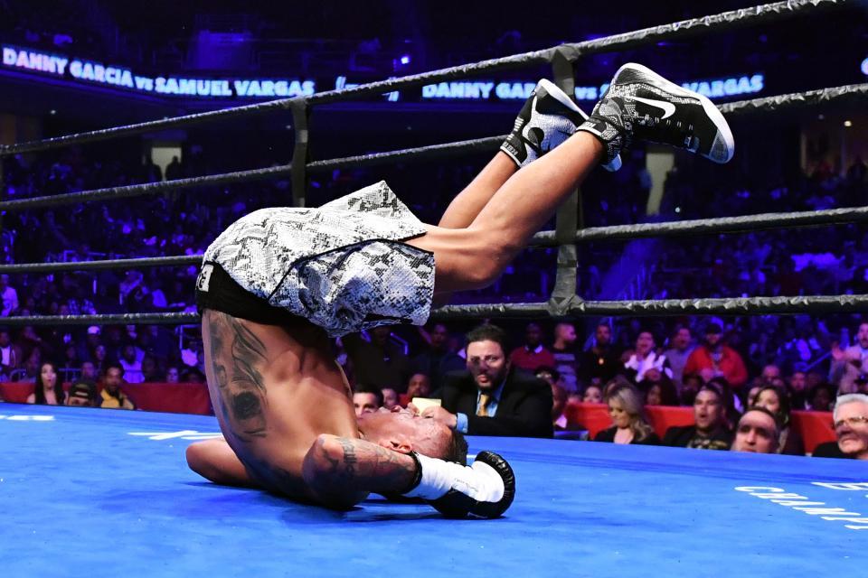 Vargas was dropped by Danny Garcia