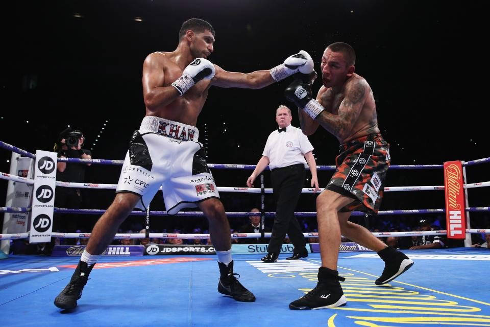 In the end, Amir Khan did enough to record a comfortable victory on the judges' scorecards