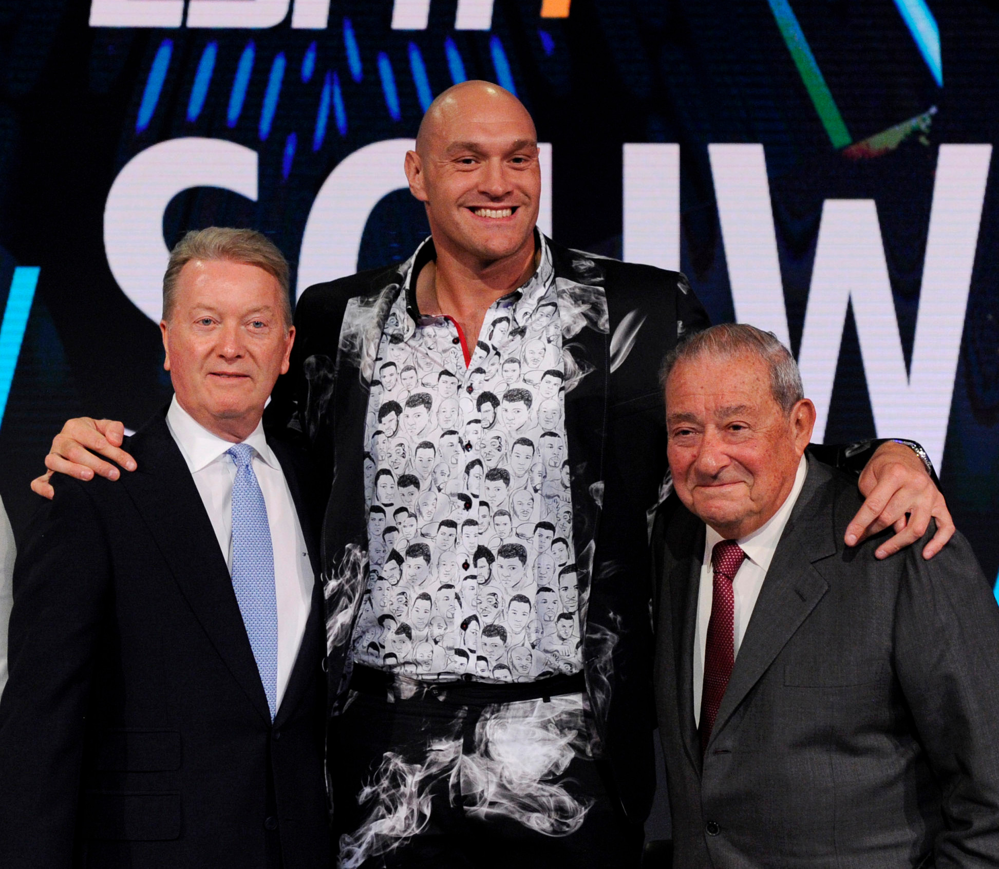 Tyson Fury is now co-promoted by Frank Warren and Bob Arum