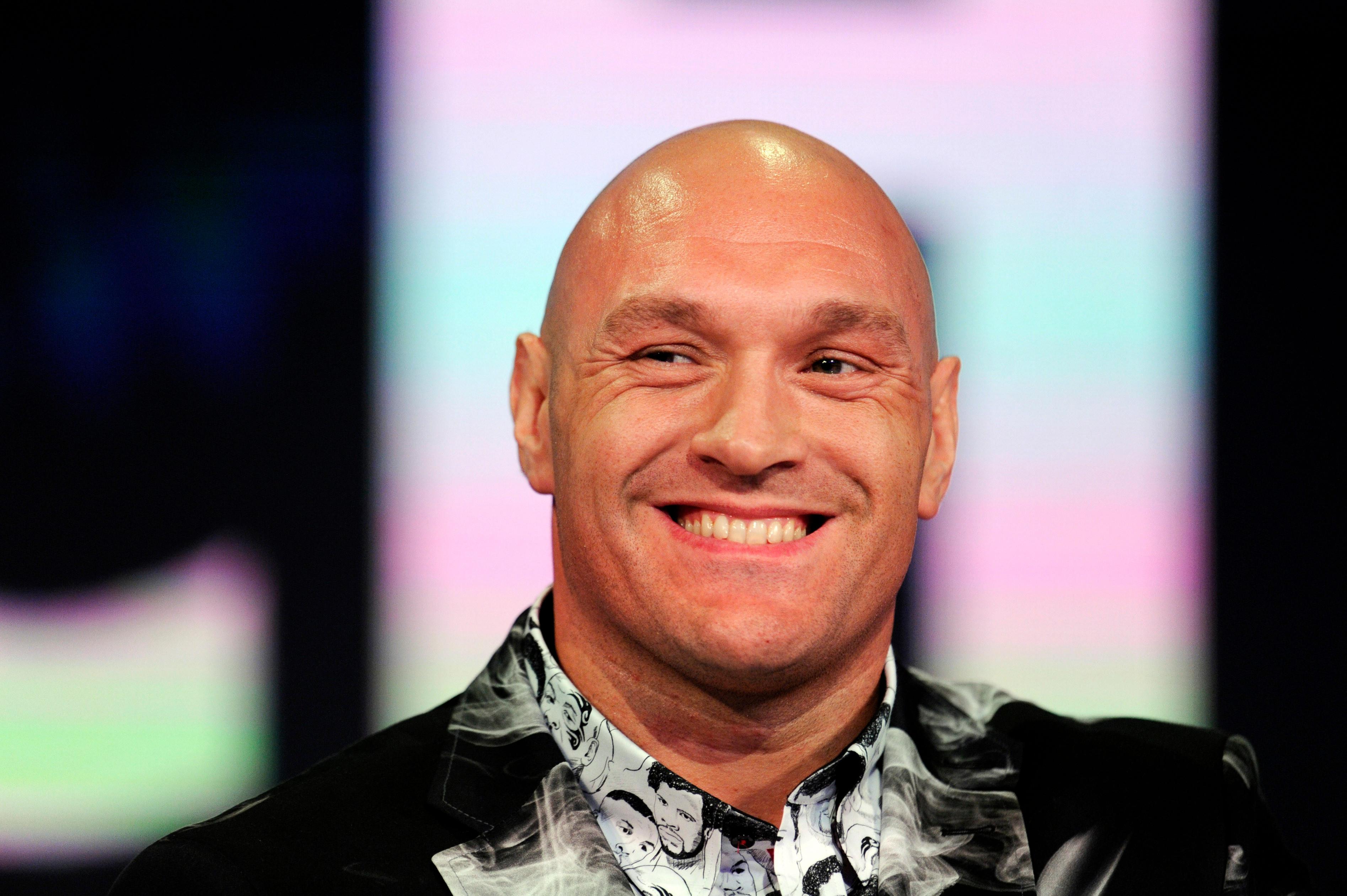 Tyson Fury speaks ahead of his fight with Tom Schwarz in Las Vegas