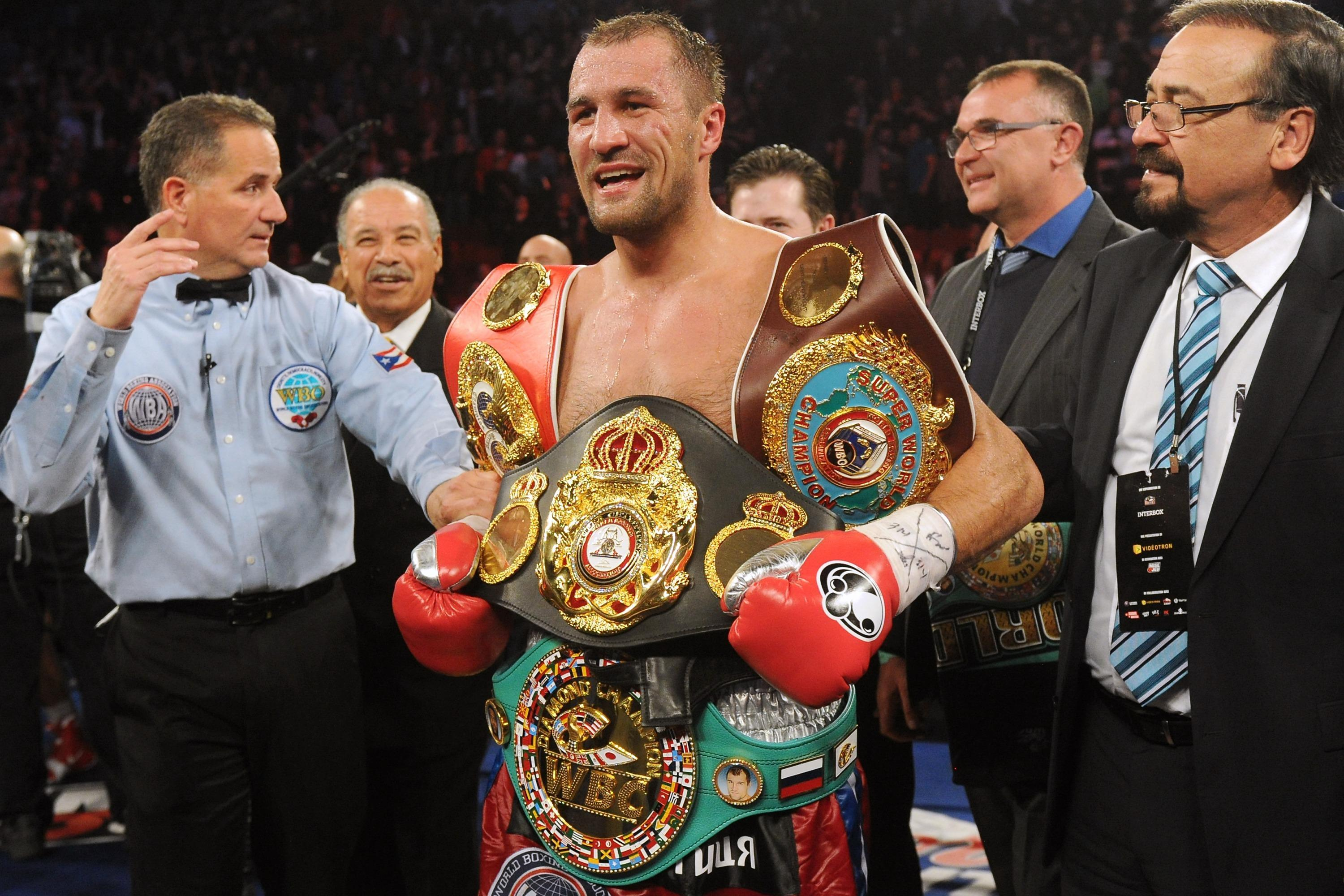 Sergey Kovalev previously unified the titles, but now holds the WBO belt alone