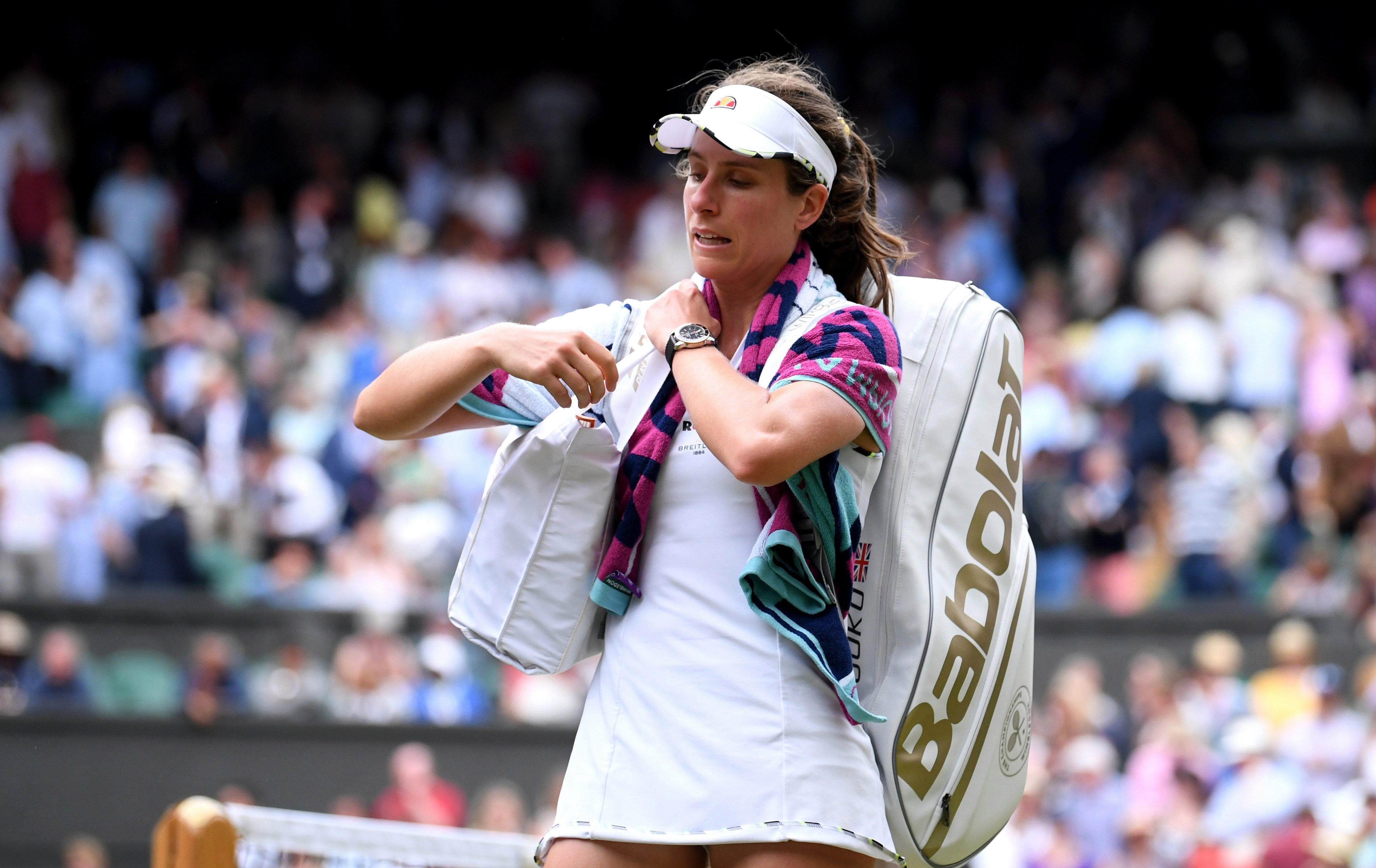 Konta had been tipped for glory at Wimbledon this year but exited at the quarter-finals