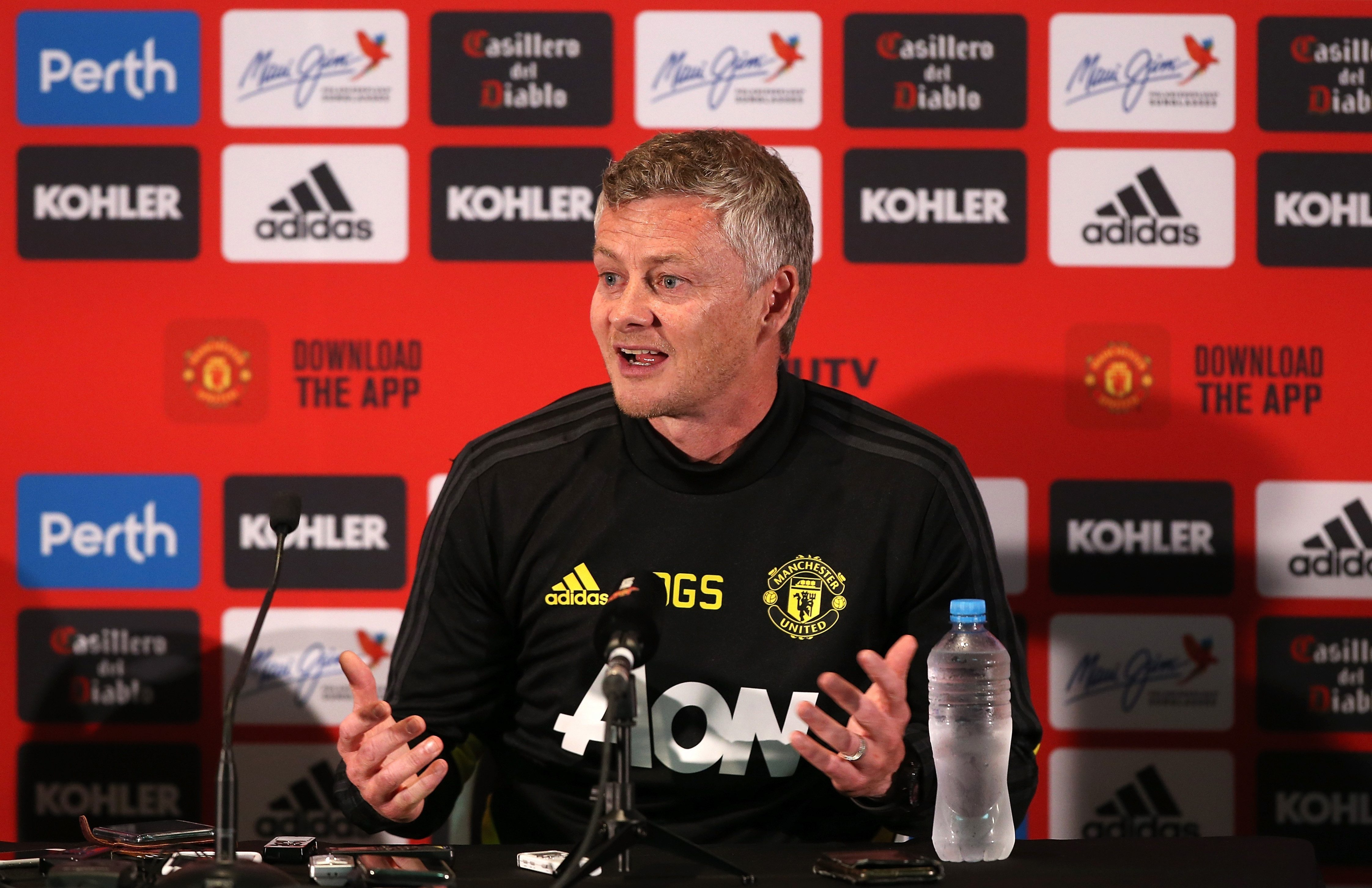 Ole Gunnar Solskjaer was speaking to media in Perth and said the club are in no need to sell players
