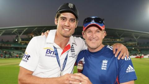Alastair Cook and Andy Flower
