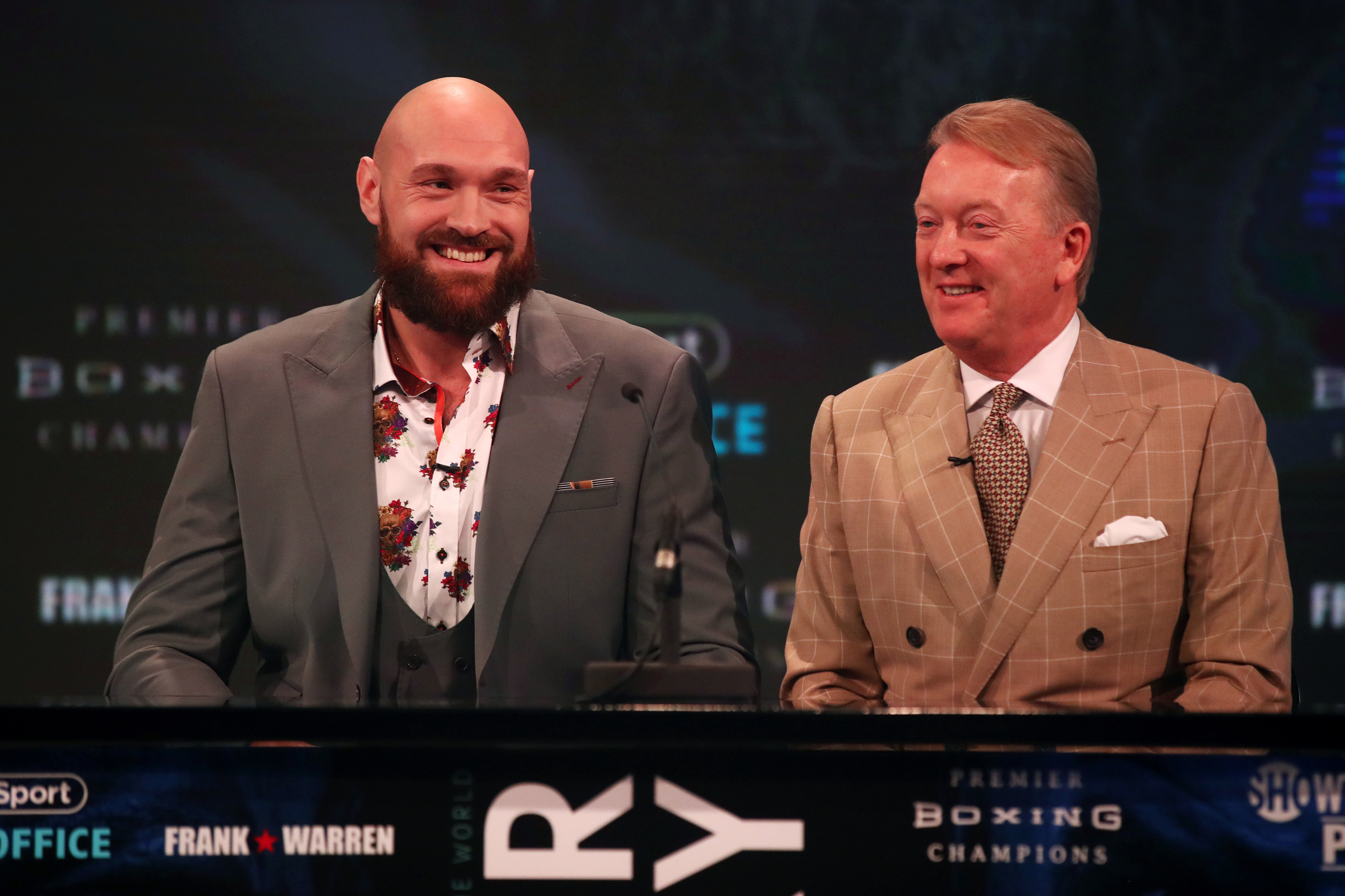 Tyson Fury is co-promoted by Frank Warren and Bob Arum