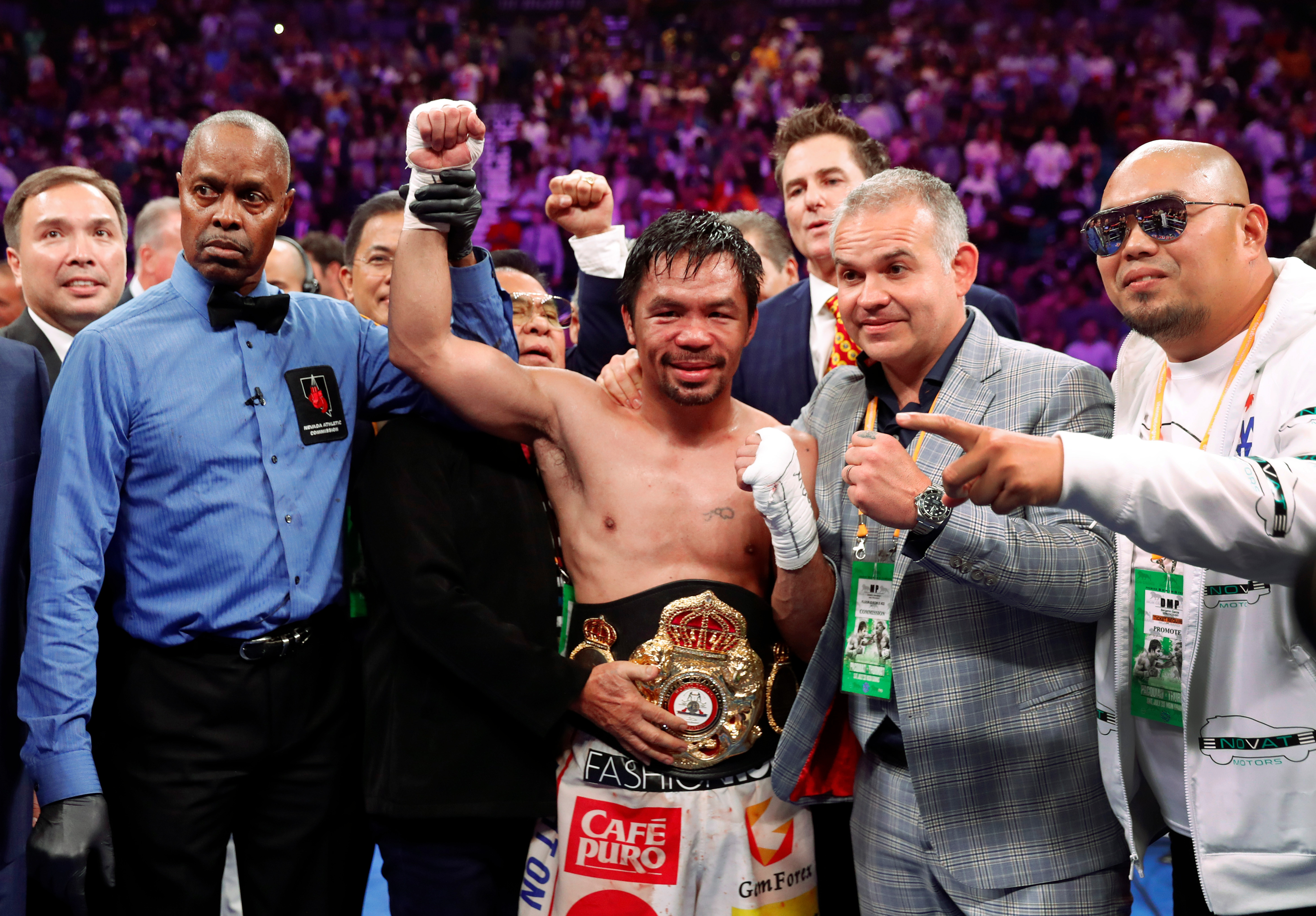 Manny Pacquiao is the WBA welterweight champion
