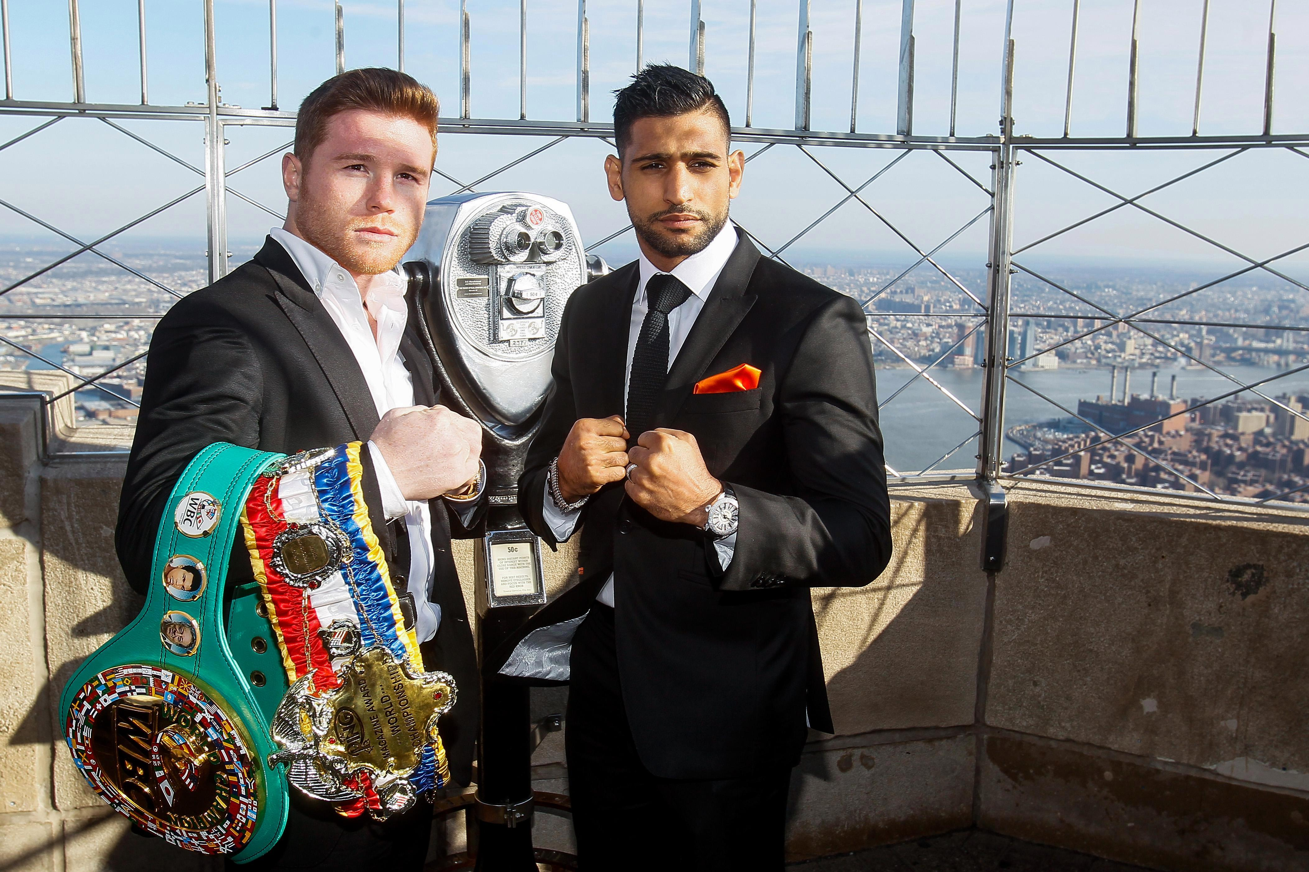 Canelo and Khan met in May 2016