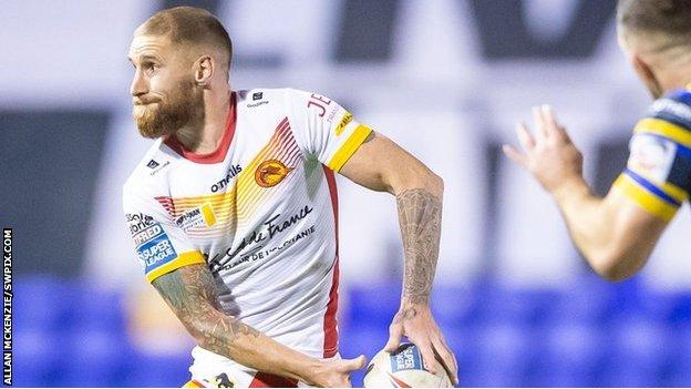 Sam Tomkins was in stunning form in Catalans' win over his old enemies Leeds